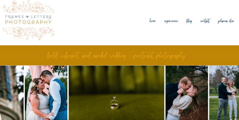 frames and letters photography homepage